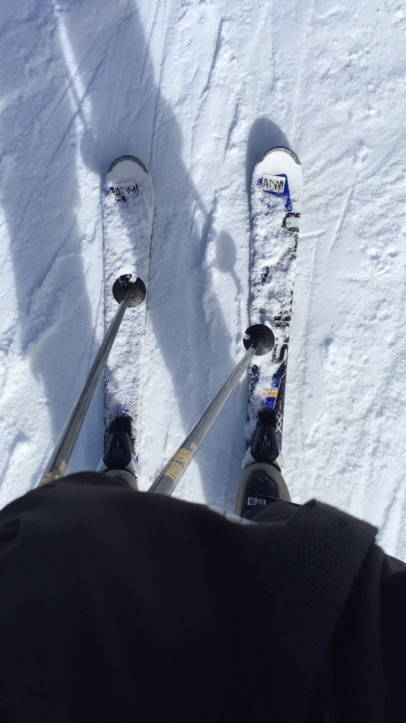 Adam learning out to ski thanks to #TahoeDreamin