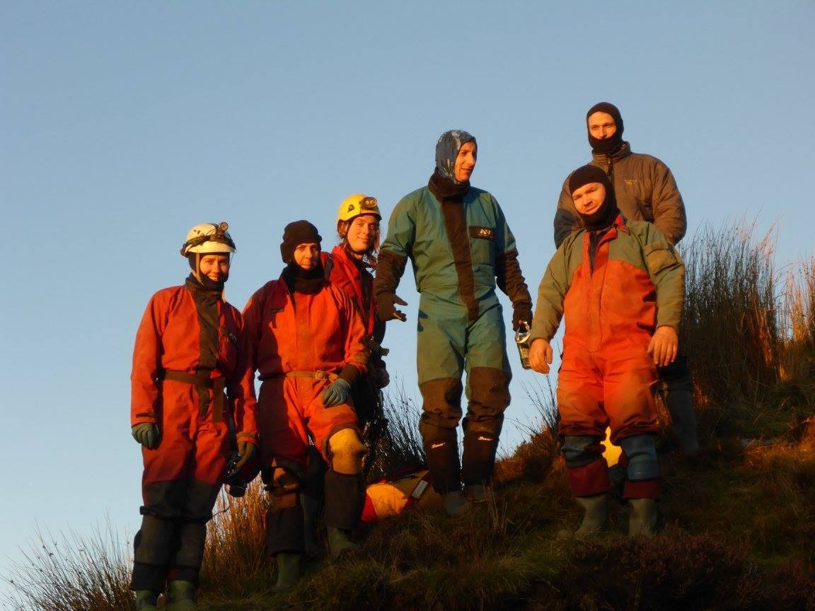 OAP's, Astronauts and Cavers gather to enjoy the sunset on Leck Fell (Dan Thorne)