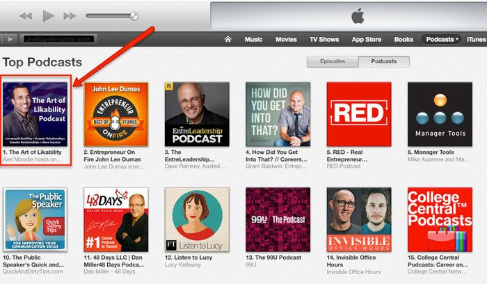 Arel Moodie Hosts a Top 5 Career Podcast on iTunes
