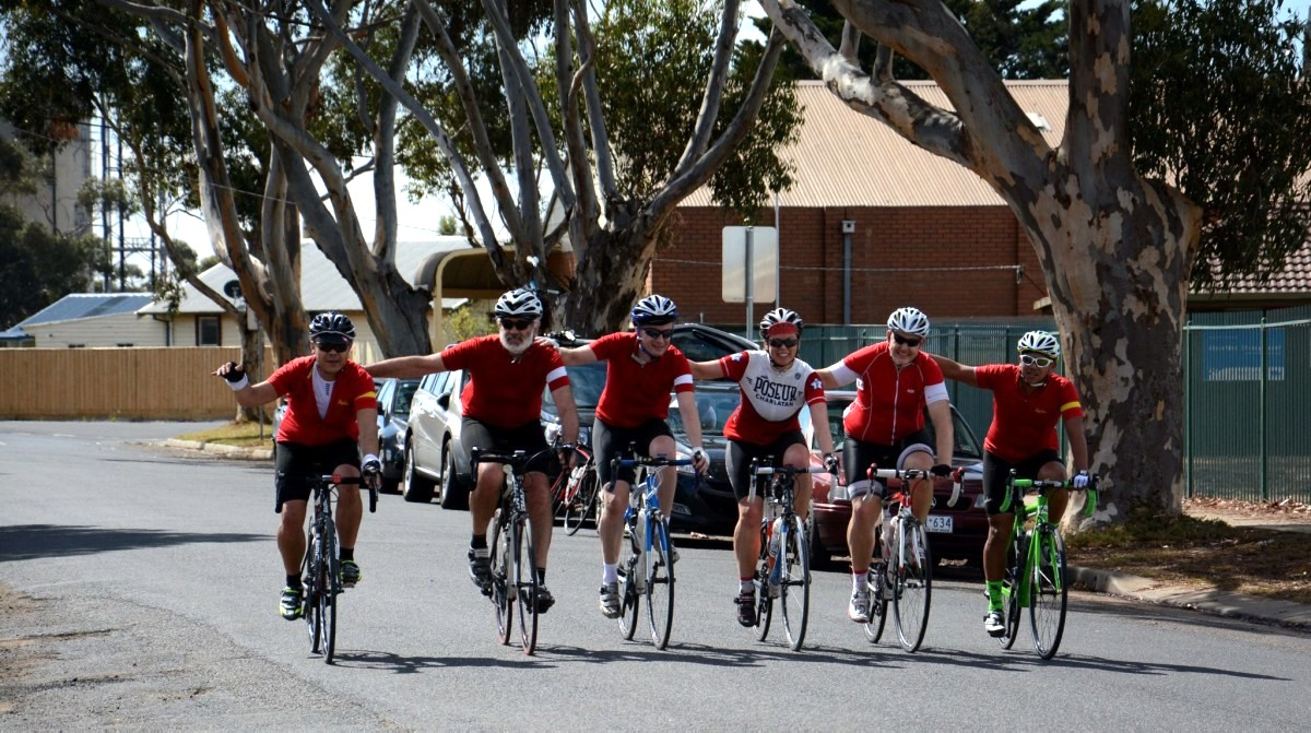Image of cyclists representing teamwork