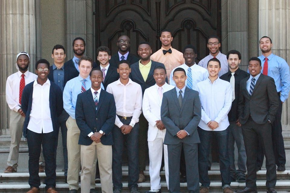 Building Leaders On Campus 2012-2013 in front of Carnegie Hall, Pomona College, Pomona, CA