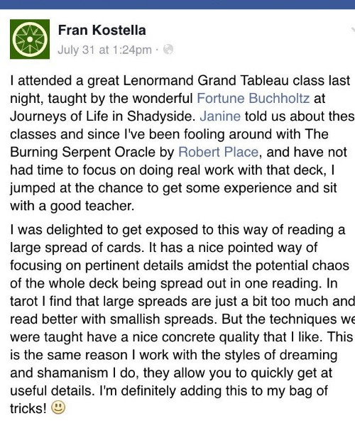 fortune buchholtz lenormand endorsement