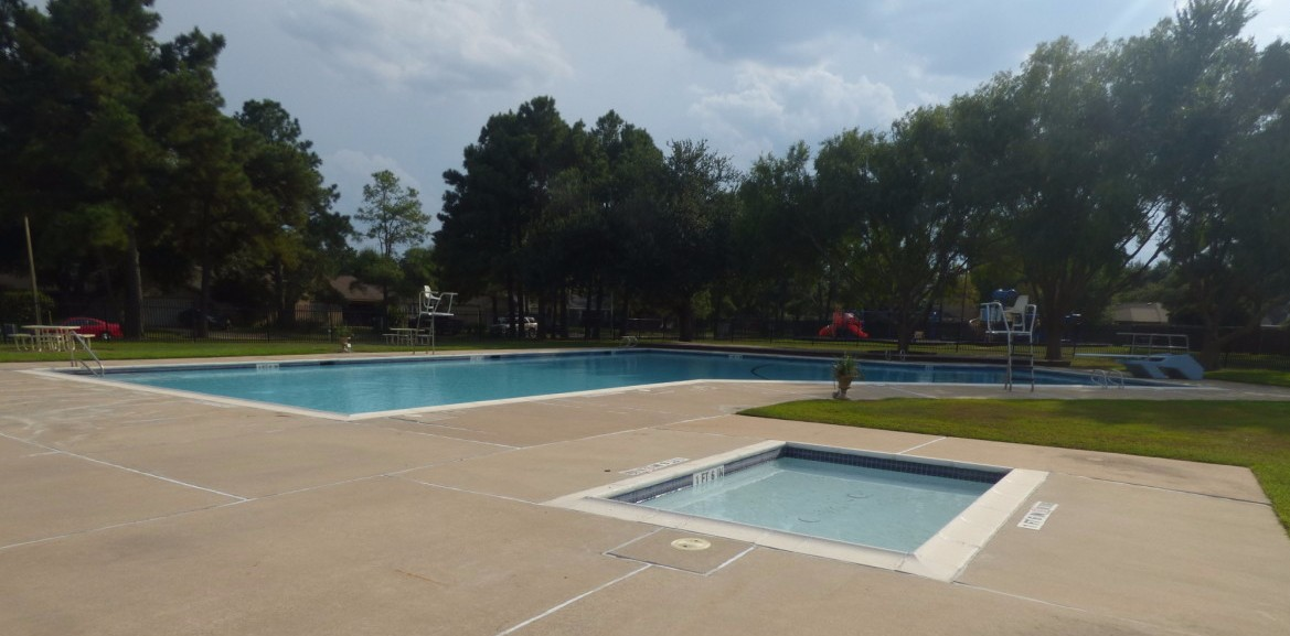 Children's Pool + Adult Salt Water Pool with diving board, up to 9' deep