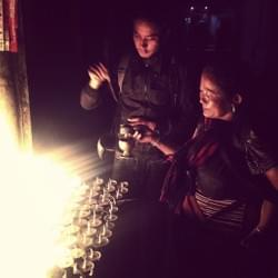 lighting lamps for the love of sentient beings, and for the love of light