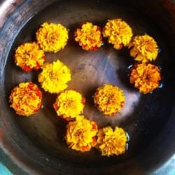 Marigolds to welcome