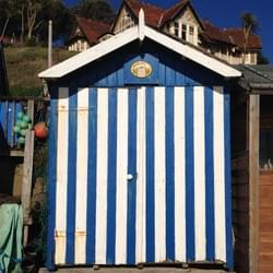 Beach Hut at Steephill Cove