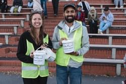 Volunteers at the Wellington vigil