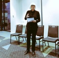 Mary O'Hagan Peerzone Director delivering our joint submission on how we can improve mental health services in Aotearoa