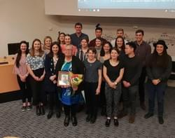 Whaea Dr Keri Lawson-Te Aho, Laura O'Connell Rapira and the fourth-year medical students at Otago University