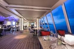 Dining on your world cruise with Crystal Cruise lines.