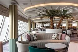 Lounge area on the beautiful 180 day world cruise.