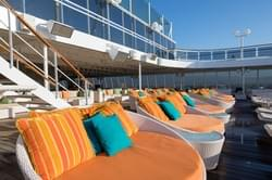 Pool deck on Crystal Cruise lines World Cruise ship - Crystal Serenity