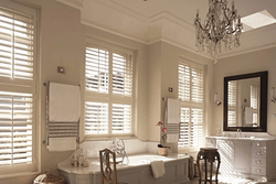 Waterproof Shutters Bathroom Window