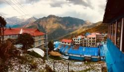 Snowfall at Ghorepani!