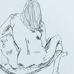 Life drawing for beginners class example