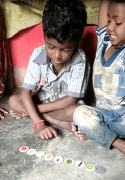 A child learning about fruits and vegetables