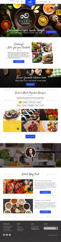Food Blogger's Homepage