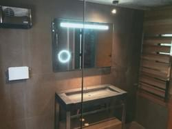 Bathroom Renovation with LED mirror - Build Queenstown