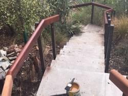 New steel and Kwila handrails - Building Queenstown