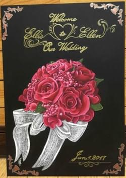 wedding welcome board ウェディング