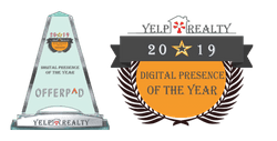 2019 Digital Presence of the year trophy; offerpad
