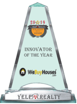 2019 Real estate Innovator of the year trophy via Yelp Realty