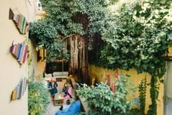 The Beehive's courtyard garden