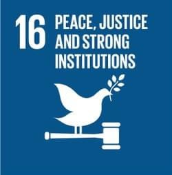 The long-term result of our collaborative effort is SDG16