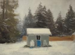 """A White Christmas"" - 6x8, Oil"