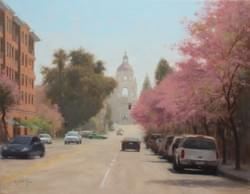 """Spring in Pasadena"" 14x18, Oil, $1600"