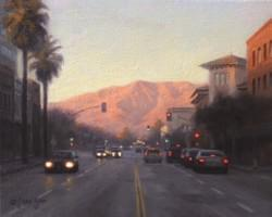 """Pasadena Evening Light""  8x10, Oil"