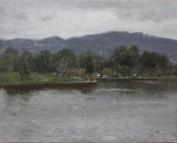 """Lake Balboa: Stormy"" - 8x10, Oil"
