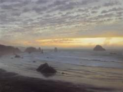 """Sunset - Bandon, OR"" 18x24, Oil"