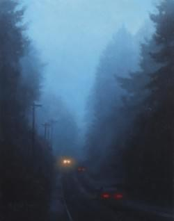 """Early Morning Commute""  10x8, Oil"