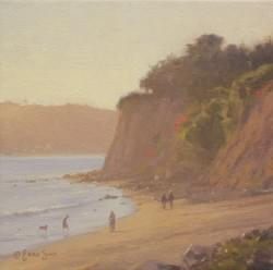 """Afternoon Light on Butterfly Beach""  8x8, Oil"