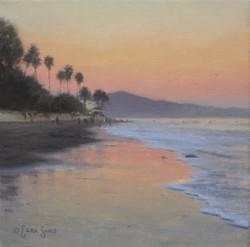 """Dusk on Butterfly Beach""  8x8, Oil"