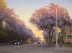 """Jacaranda Evening Light""  30x40, Oil"