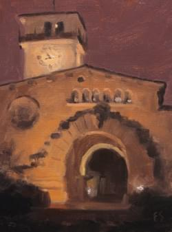 """Santa Barbara Courthouse"" - 8x6, Oil"
