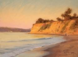 """First Light on Butterfly Beach""  9x12, Oil, $1200"
