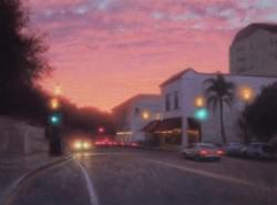 """Sunset Santa Barbara""  18x24, Oil, $2450"