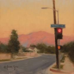 """Last Light in the Valley""  6x6, Oil, $475"