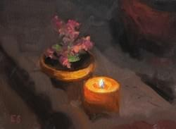 """Candlelight"" - 6x8, Oil"