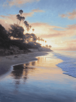 """Morning Reflections on Butterfly Beach"" - 24x18, Oil"