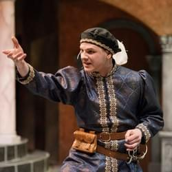 Jake Lesh as Antipholus of Syracuse in The Comedy of Errors, University of Florida