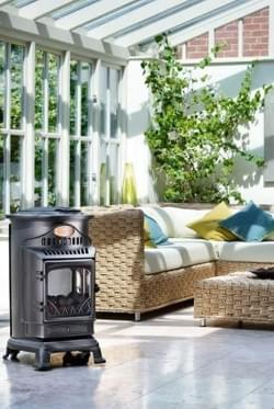 Provence portable real flame gas fire