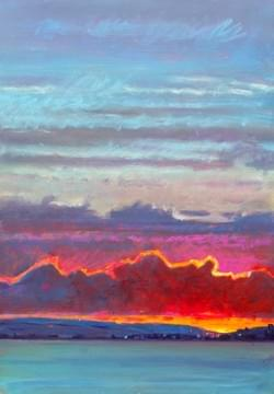 'November Sunset - Purbeck'
