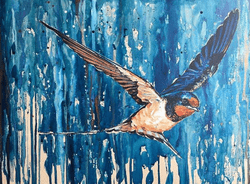Swooping Swallow Dream - Original Available -  €200
