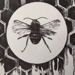 Simply Bee - Original ink drawing - €200