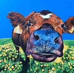 Curious Cow - Original Sold