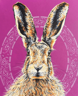 Celtic Hare - Original Sold - A3 Fine Art Prints available